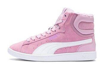 PUMA Dziewczęce Wysokie Buty Vikky Mid Fur Preschool, Pink, rozmiar 27,5, Obuwie