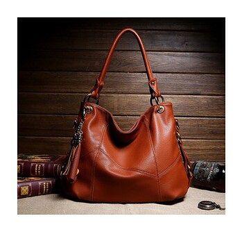 Duża mieszcząca A4 na ramię skóra ekologiczna zamek jednolita na co dzień elegancka tote damska torba brązowy torebka