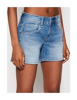 Pepe Jeans Szorty jeansowe Siouxie PL800685 Niebieski Regular Fit