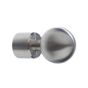 Końcówka do karnisza TERCJA KULA srebrna 16 mm