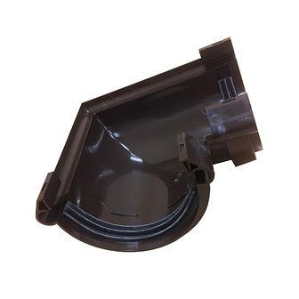 Złączka kątowa do rynny G125 Brązowa SCALA PLASTICS