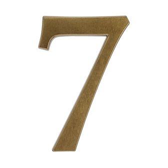 Cyfra 7 wys. 19 cm aluminiowa brązowa
