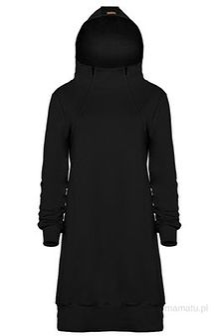 Bluzo-sukienka do karmienia piersią black