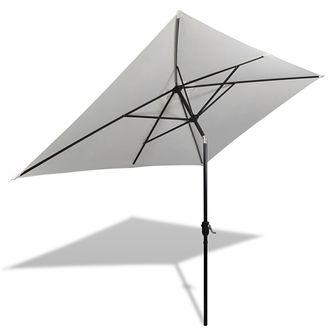 Prostokątny parasol ogrodowy, biały, 200x300 cm