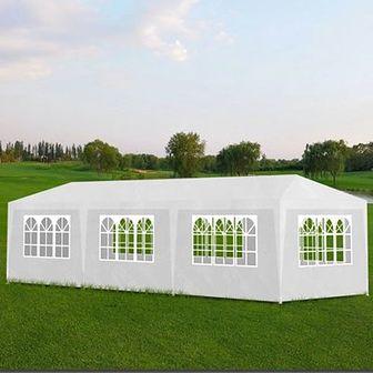 Namiot imprezowy 3x9, 8 ścianek, biały