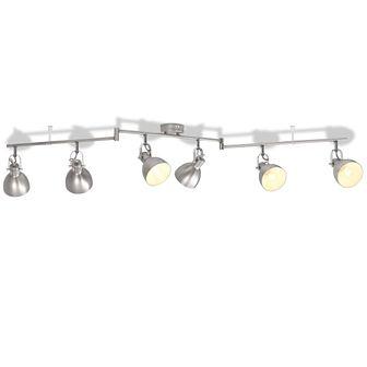 Lampa sufitowa na 6 żarówek E14, szara
