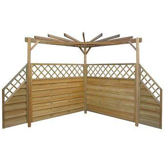 Pergola ogrodowa, 256 x 256 x 225 cm, drewno sosnowe FSC