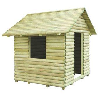 Domek dla dzieci, impregnowane drewno FSC, 167x150x151 cm