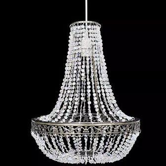 Kryształowa lampa wisząca z abażurem, 36,5 x 46 cm