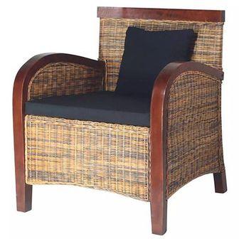 Fotel ręcznie wyplatany z rattanu