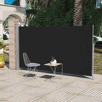 Markiza boczna na taras, 180 x 300 cm, czarna
