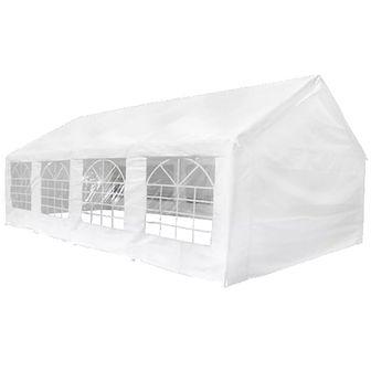 Namiot imprezowy do ogrodu, 8x4 m, biały