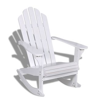 Drewniane krzesło bujane (Białe)