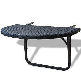 Rattanowy stół balkonowy, czarny