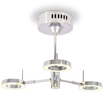 Lampa sufitowa LED z 3 żarówkami, ciepłe białe światło