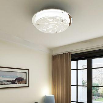 Okrągła lampa sufitowa ze wzorem, szklana