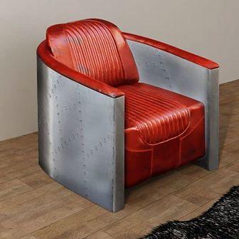 Fotel jasny brąz 79x71x90 cm z prawdziwej skóry