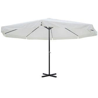 Parasol z aluminium, 500 cm, biały