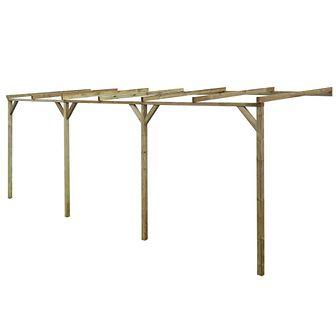 Pergola przyścienna, 2 x 6 x 2,2 m, drewno FSC