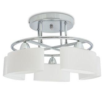 Lampa sufitowa, 5 żarówek E14, klosze w kształcie elipsy, 200 W