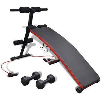 Regulowana ławeczka do ćwiczeń z hantlami 3 kg