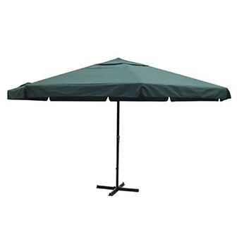 Parasol z aluminium, 500 cm, zielony