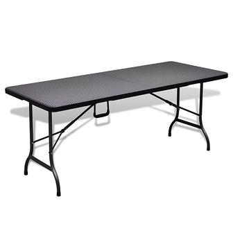Składany stół ogrodowy/kempingowy HDPE 180 cm