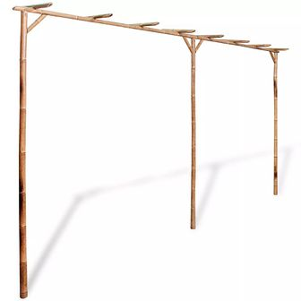 Pergola bambusowa, 385 x 40 x 205 cm