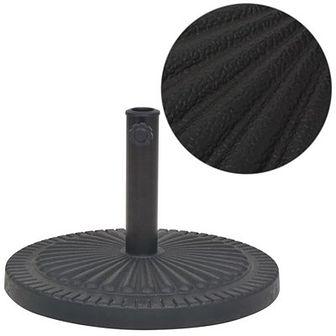 Podstawa do parasola, okrągła, czarna, 14 kg, z żywicy