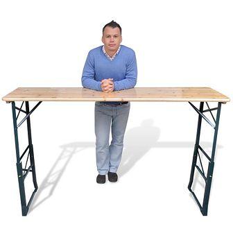 Stół biesiadny składany 179x50x75/105 cm drewno sosnowe