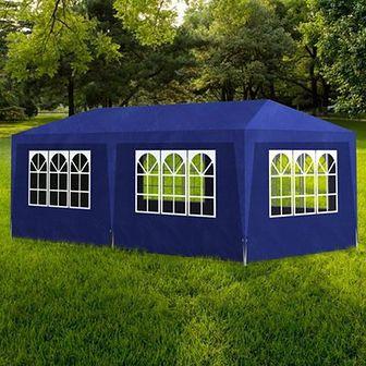 Namiot imprezowy 3x6, 6 ścianek, niebieski