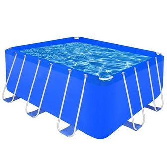 Prostokątny basen ogrodowy ze stelażem 400 x 207 x 122cm