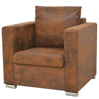 Fotel, 82 x 73 x 82 cm, sztuczny zamsz