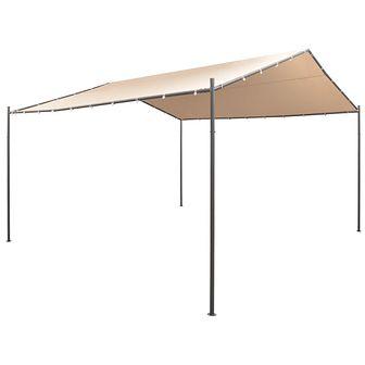 Altana/namiot ogrodowy, 4x4 m, stal, beżowy