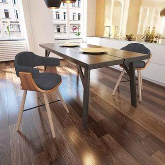 Krzesła do jadalni Drewno+Materiał