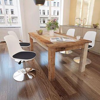 Obrotowe krzesła, 4 szt., regulowana wysokość, biało-czarne