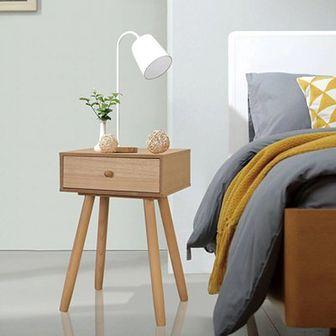 Szafki nocne, 2 szt., drewno sosnowe, 40 x 30 x 61 cm, brązowe