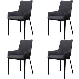 Krzesła jadalniane ciemnoszare 4 sztuki