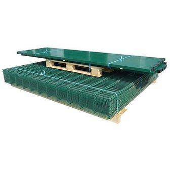 Panele ogrodzeniowe 2D z słupkami - 2008x2030 mm 36 m Zielone