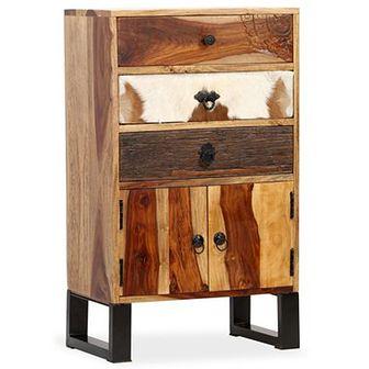 Szafka z litego drewna sheesham, 50 x 30 x 86 cm
