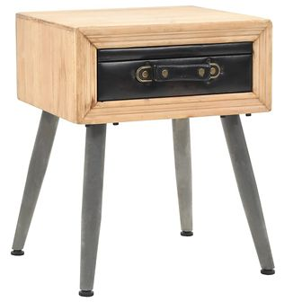 Stolik nocny, lite drewno jodłowe, 43 x 38 x 50 cm