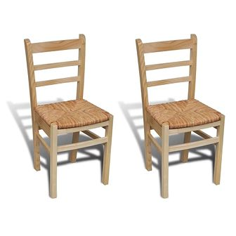 Krzesła do jadalni, 2 szt., drewno sosnowe