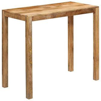 Stolik barowy z litego drewna mango, 120 x 60 x 108 cm