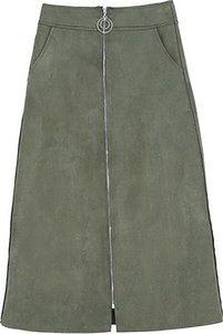 Ciemnozielona Spódnica By Origin