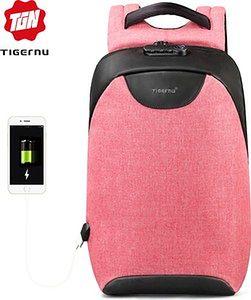 """Antykradzieżowy plecak Tigernu na laptopa 15,6"""" T-B3611 z USB Kolor: różowy"""