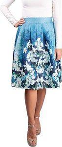 Simpo spódnica damska Blue Flowers
