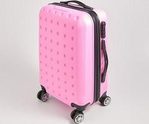 Sinsay - Różowa walizka na kółkach - Różowy