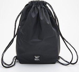 Cropp - Plecak worek z nadrukiem - Czarny