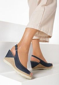 Granatowe Sandały Laguve