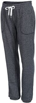 Spodnie dresowe damskie SPDD002Z - granatowy melanż